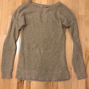 Shimmery light tan long sweater size small